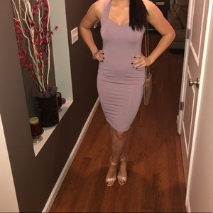 Lavender body-con dress